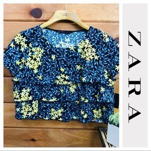 Zara | Cropped Ruffle Top